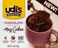 Udi's Gluten Free Chocolate Mug Cakes Mix 4 Count