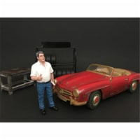 American Diorama 77443 Mechanic Manager Tim Figure for 1 isto 18 Diecast Model Car