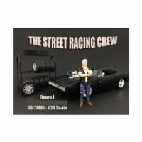American Diorama 77481 The Street Racing Crew Figure I for 1 isto 24 Diecast Model Car
