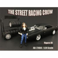 American Diorama 77484 The Street Racing Crew Figure IV for 1-24 Scale Models