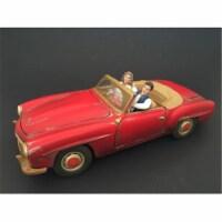 American Diorama 23833B Seated Couple Release II Figure Set for 1-18 Models