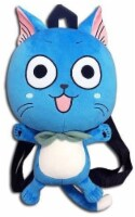 """Fairy Tail 84608 12.5"""" Plush Backpack - Happy, One Size, Blue - 1"""