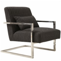 Armen Living Skyline Accent Chair In Charcoal Fabric - 1