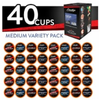 Brooklyn Beans Medium Roast Coffee Pods Variety Pack for Keurig K-Cups Brewer, 40 Count