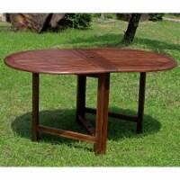 Highland Acacia Miami Oval Gate Leg Folding Dining Table -Brown - 1