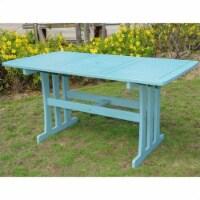 "International Caravan Royal Tahiti 59"""" Patio Dining Table in Sky Blue - 1"