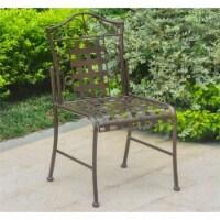International Caravan Mandalay Patio Dining Side Chair (Set of 2) - 1