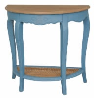 Ashbury Half-Moon Console Table in Antique Blue - 1