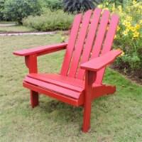 International Caravan Royal Fiji Patio Adirondack Chair in Barn Red