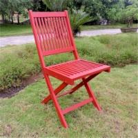 Royal Fiji Acacia Folding Garden Chair (Set of 2) - Barn Red - 1
