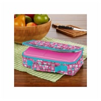 Fit & Fresh 841JL405 Rainbow Owl Bento Lunch Box Set with Insulated Carry Bag, Pink - 1