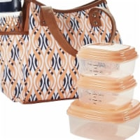 Fit & Fresh 993FF1144 Westerly Insulated Lunch Bag Set with Reusable Containers
