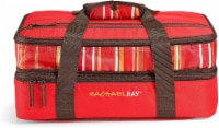 Rachael Ray Expandable Lasagna Lugger - Stripe Red