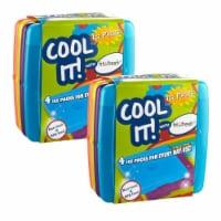 Medport 336KCHPK8 Fit & Fresh Cool Coolers Ice Pack, Multicolor - Pack of 8 - 8