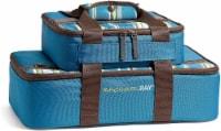 Fit and Fresh Rachael Ray Lasagna Lugger Set - Marine Blue Stripe
