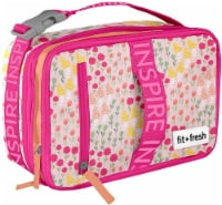 Fit and Fresh Expandable Bento - Wildflower Meadow Pink