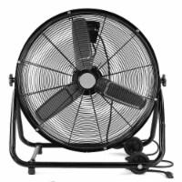 """24"""" Industrial Rolling Drum Floor Fan Shop Adjustable Speed Fan, Black - 1 Unit"""