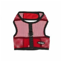 Bark Appeal SRNWNG-L Wrap N Go Netted Cloth Hook & Eye Harness, Red - Large - 1