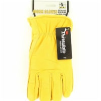 M&F Western H2111408-L HD Xtreme Mens Lined Deerskin Gloves, Yellow - Large - 1