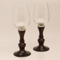 Western Moments 94440 Monarch Wine Glass Stemware Set - 2 Piece - 1