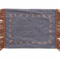 Western Moments 94448 Branded Denim Placemats - 4 Piece - 1