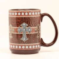 Western Moments 94092 Western Leather Cross Mug