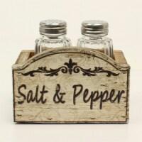 Western Moments 94117 IV Wood Salt & Pepper Shaker Set - 4.25 x 3.50 in.