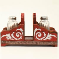 M&F Western 94103 Salt & Pepper Napkin Holder Shaker Set, Red