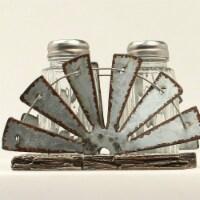 M&F Western Salt & Pepper Mill Fan Holder Shaker Set - 3 Piece