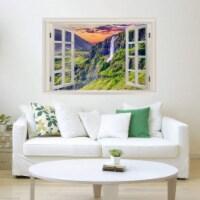 VWAQ - 3D Waterfall Window Decal Nature Peel and Stick Mural Wall Art Sticker - NWT12 - 1