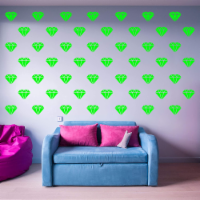 VWAQ Diamond Wall Stickers Patterns Decor Shapes Vinyl Decals - V2 49 Pcs - 1