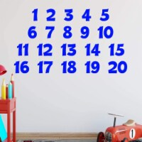 VWAQ Numbers Wall Decals for Kids Classroom Educational Vinyl Stickers - 1