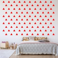 VWAQ Triangle Stickers for Wall Kids Peel and Stick Shapes Vinyl Wall Decals - 100 Pcs - 1