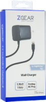 ZGear Lightning Cable Wall Charger - Black