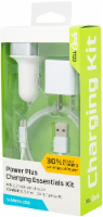 CELLCandy Power Plus Micro USB Charging Essentials Kit - White/Silver