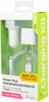 CELLCandy Power Plus Lightning Cable Charging Essentials Kit - White/Silver