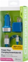 CELLCandy 8-Pin Apple MFi Lightning Charging Essentials Kit - Tropical Blue