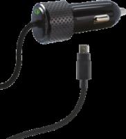 ZGear 28.8-Watt 2.4-Amp Adaptive Fast Charging Car Charger for Micro USB - Black