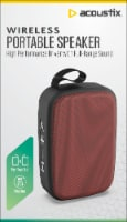 Acoustix Wireless Mini Speaker - Burgundy - 1 ct