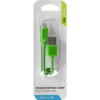 CELLCandy Charge and Sync Micro USB Cable - Green