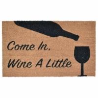 Imports Decor 560PVC PVC Backed Coir Doormat Wine A Little - 1