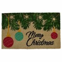 Imports Decor 573PVC Rectangular Merry Christmas Doormat - 1