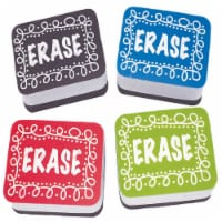 Non-Magnetic Mini Whiteboard Erasers, Chalk Loop, Pack of 10 - 1