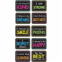 Non-Magnetic Mini Whiteboard Erasers, Character Building, Pack of 10 - 1