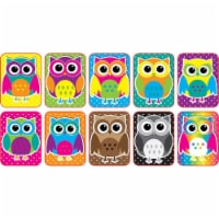 Non-Magnetic Mini Whiteboard Erasers, Color Owls, Pack of 10 - 1