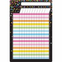 "Smart Poly® Chart Black Confetti Incentive Chart, 13"" x 19"""