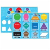 Smart Poly™ Learning Mat, 12  x 17 , Double-Sided, Colors & Shapes - 1