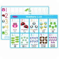 Smart Poly™ Learning Mat, 12  x 17 , Double-Sided, Numbers 1-10 - 1