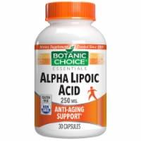 Botanic Choice  Alpha Lipoic Acid 250 mg. Amino Acid Supplement - 30 capsules