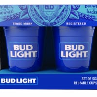Bud Light 811468 Bud Light Reusable Plastic Cups - 6 pk